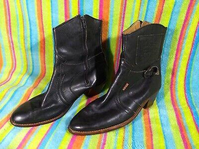 Vintage 80's Levi's Black Leather Ankle Boots Cowboy Men Size 10.5/11/11.5us/44e