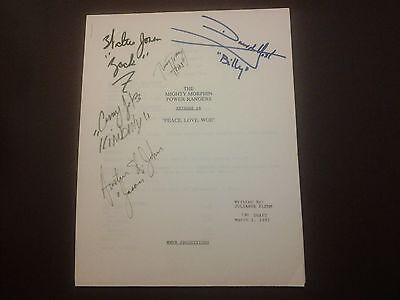 Mighty Morphin Power Rangers 1st Season Script HAND SIGNED by ALL 5 ORIG. Member