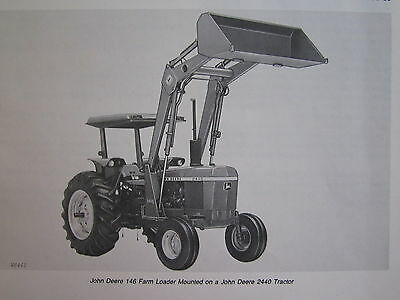 John Deere 146 Farm Tractor End Loader Operators Manual