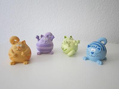 4er Set Sammlerkatzen, Dekokatzen, Katzenfiguren