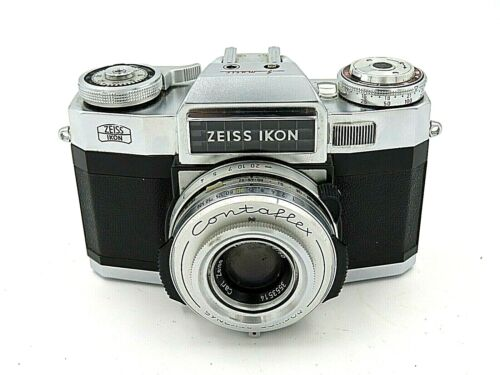 Vintage Zeiss Ikon Contaflex 50mm Camera with Case - Excellent Condition