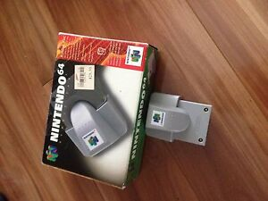 N64 rumble pak with box