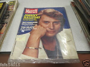 revue avec couverture johnny hallyday paris match n 1466 1 er juillet 1977 ebay. Black Bedroom Furniture Sets. Home Design Ideas