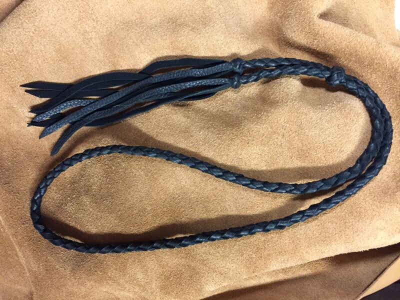 USA HAT BAND BRAIDED DEERSKIN LEATHER WESTERN BOLO HATBAND OR LARIAT NECKLACE