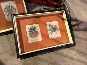Herb Pictures in Frames set of 2