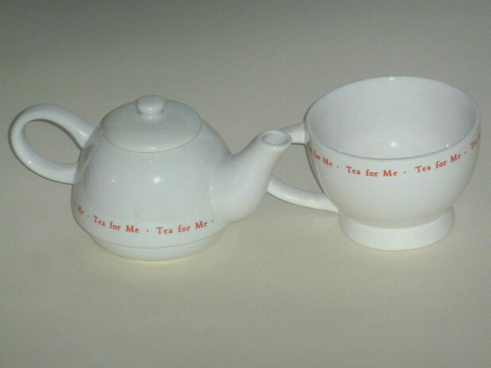 TEA FOR ONE SET TEAPOT TEA FOR ME