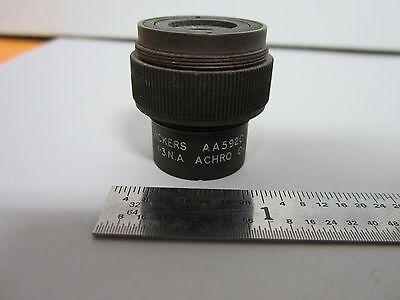 Microscope Part Objective Vickers Aa5620 Achro Optics As Is Binm7-r-09