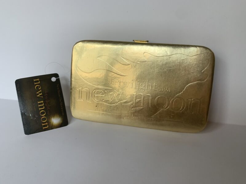 Twilight New Moon Gold Small Card WALLET Wolf Pack Jacob NECA