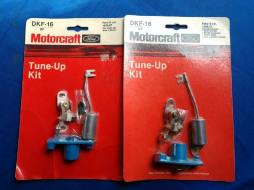 NOS Motorcraft Distributor Ignition Tune Up Kit # DKF-16 ~ Set of 2 ~ Ford 6 cyl