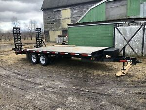 Miska 5 ton deckover equipment trailer! Mint shape!