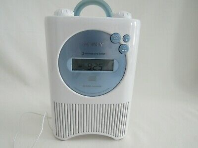 SONY Portable Shower CD Clock Radio AM FM Weather Model # ICF-CD73V