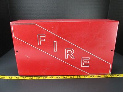 Fire Enclosure Panel Metal Red Box Business Emergency Electrical Guard Gs