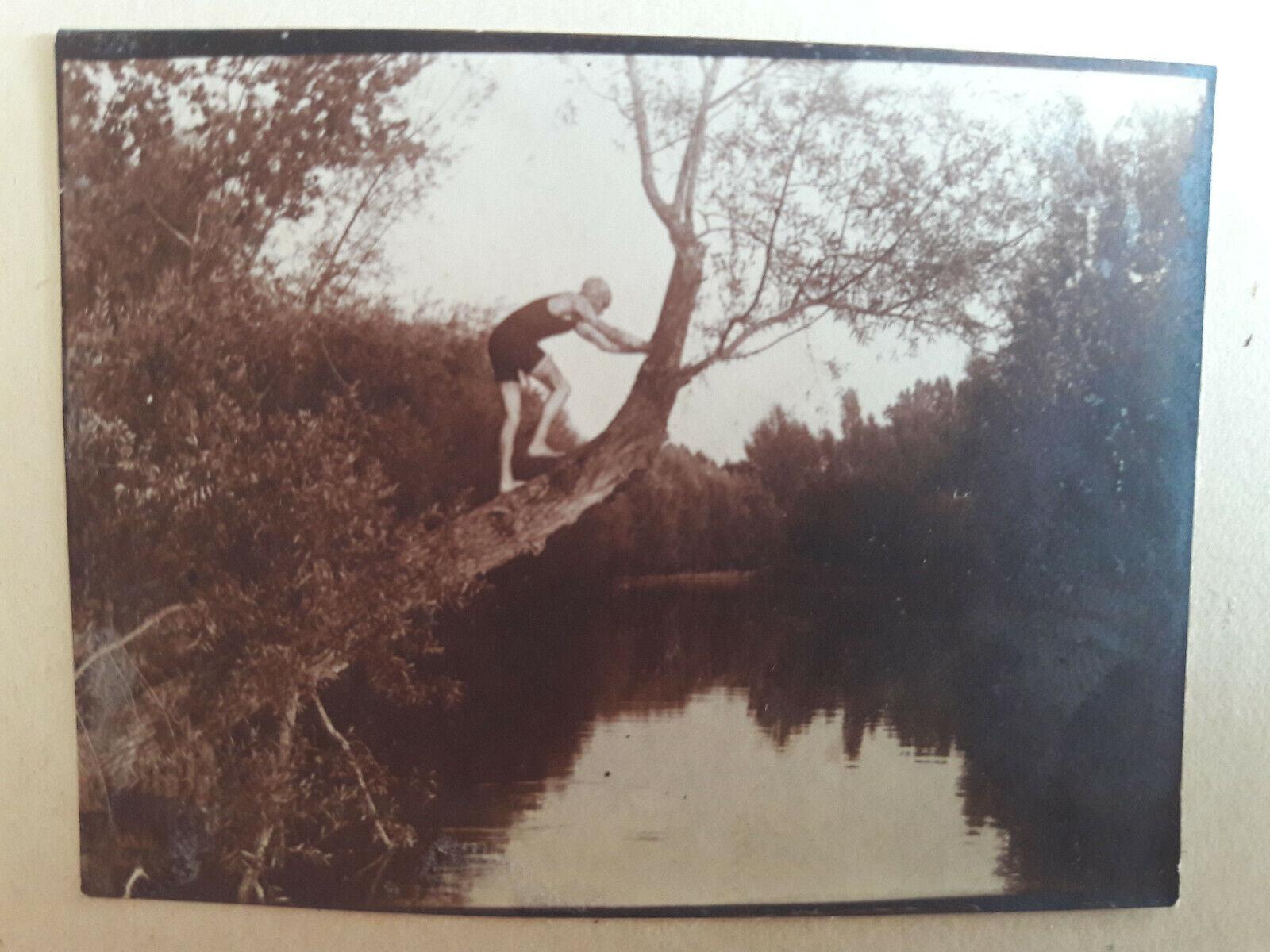 5 photos anciennes vintage baigneur, barque, canotier sept 1911 montabert