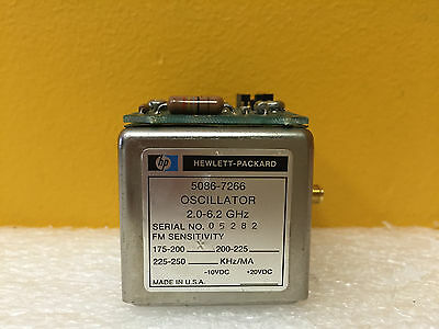 Hp 5086-7266 2 To 6.2 Ghz -10 To 20 Vdc Yig Tuned Oscilllator. 5061-5420.