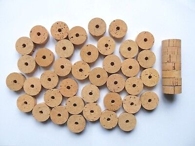 "50 CORK RINGS 11/4""X1/2"" GRADE EXTRA BORE 1/4"" ---- Free ship"