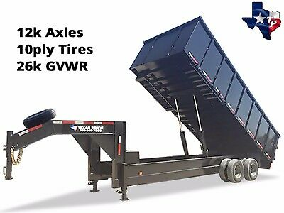 Brand New 8 X 20 Gooseneck Dump Trailer 26k Gvwr With 48 Sides - Special