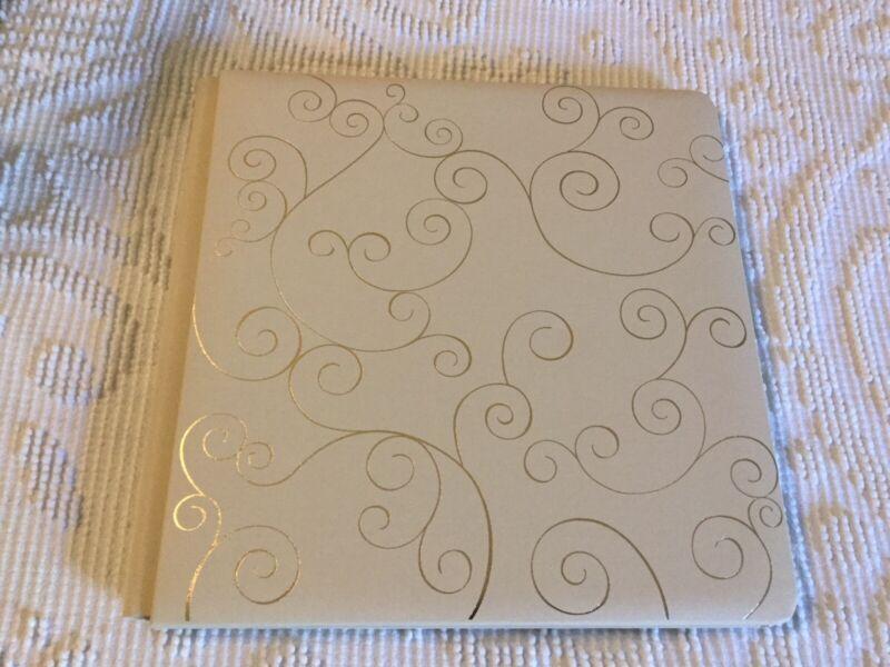Creative Memories Ivory with Gold Swirls Album Coverset 12x12 NIP