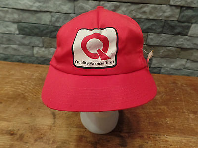 Quality Farm   Fleet Hat Cap Vintage Trucker Snapback Red Nos With Tags
