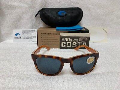 NEW Costa Del Mar Copra Polarized Sunglasses Tortoise Gray 580P COP 106 (Costa Del Mar Wayfarer)