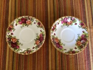 Royal Albert Old Country Roses saucers