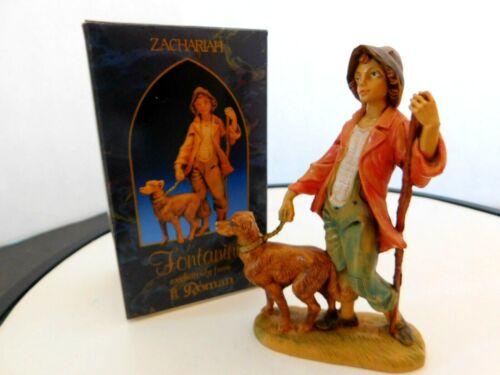 "Fontanini Italy ""Zachariah"" 5 inches with Dog Figurine"