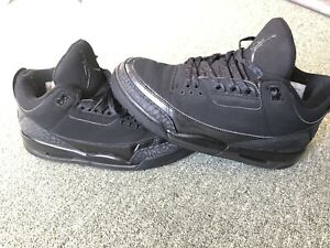Jordan 3 black cat. Used size 9.