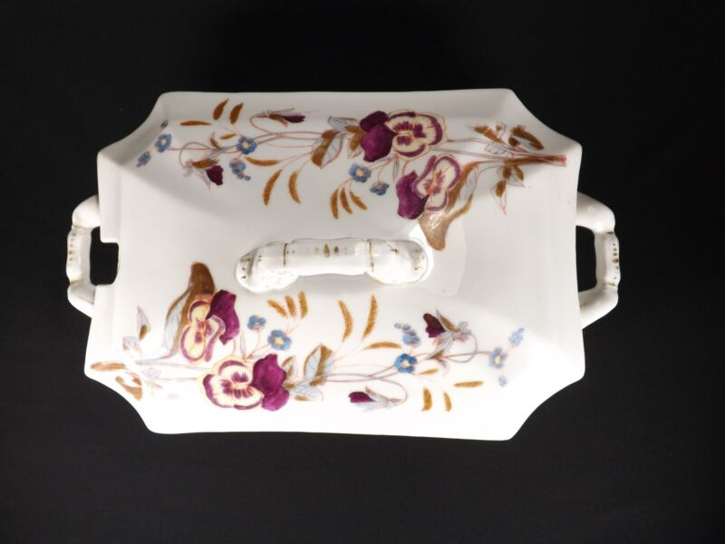 Antique Victorian Carlsbad Austrian China Soup Tureen Floral Pattern # 5