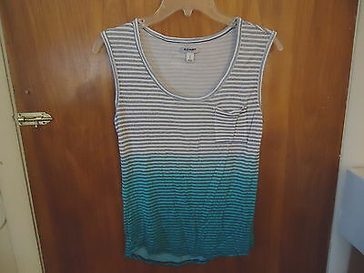 Womens / Girls Old Navy Size SPP Multi-Color Striped Tank Top Type Of Shirt