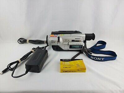 Sony Handycam Camcorder - Hi8/Video8/Digital8 - NTSC (DCR-TRV120) with bag