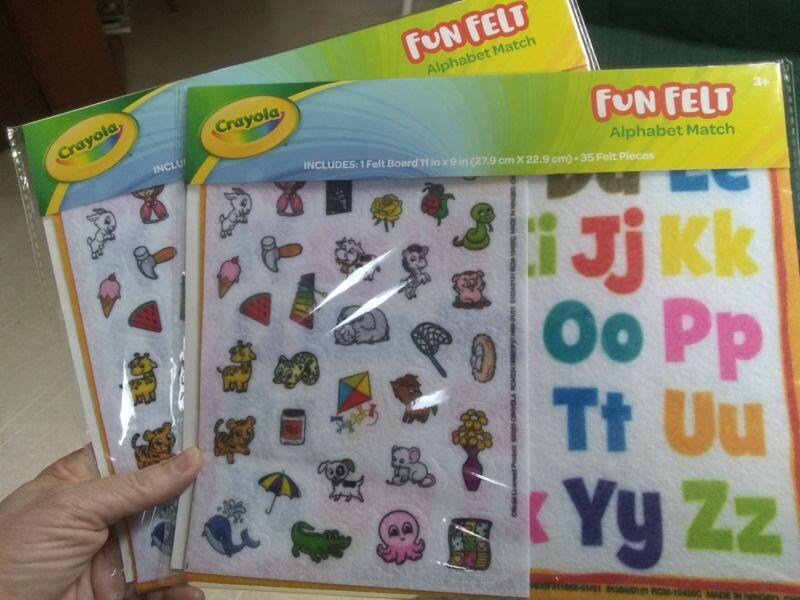 Crayola Fun Felt Alphabet Match Set Of 2 preschool kindergarten homeschool fun
