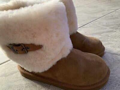 UGG Australia Boot Kids Ellee Chestnut EEUC Size 5