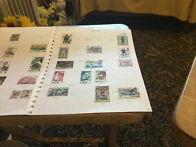 Spain X2 Used Stamps Part Sheets
