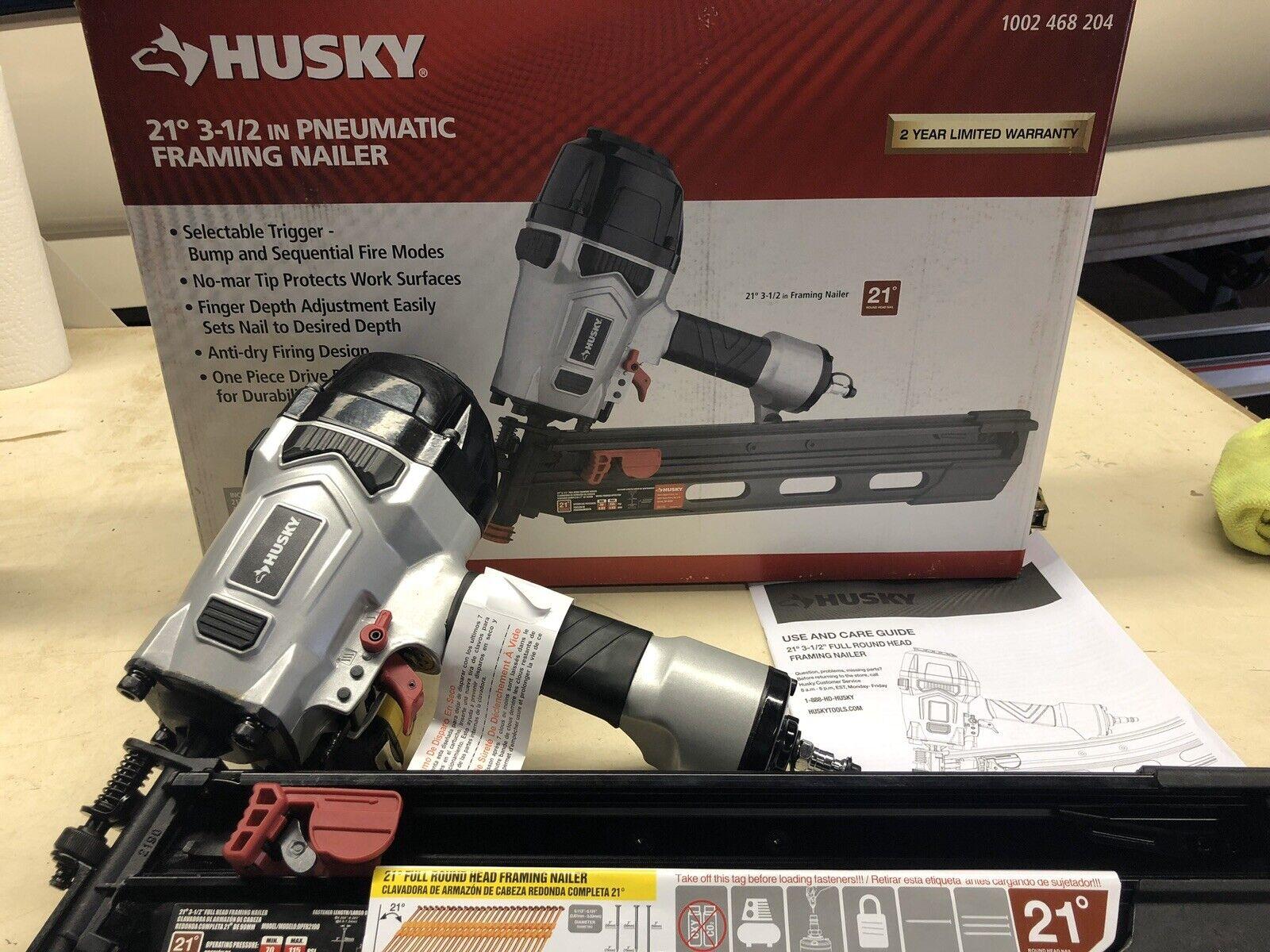 NEW OPEN BOX 21 Degree Husky Framing Nailer