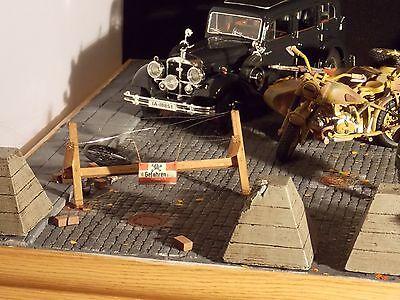 1/16 B Tank R Model Panzer Seigfried Line Concrete Dragon Teeth 3pcs for Diorama