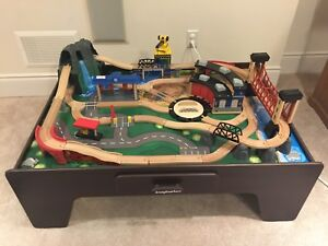 Imaginarium Wooden Train table and train set