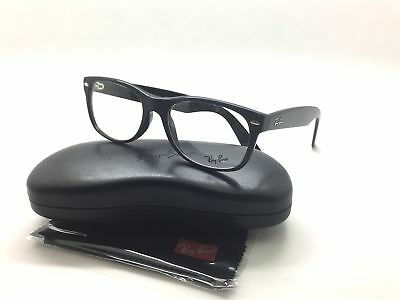 Ray-Ban New Wayfarer RX 5184 2000 Shiny Black Plastic Wayfarer Eyeglasses 52