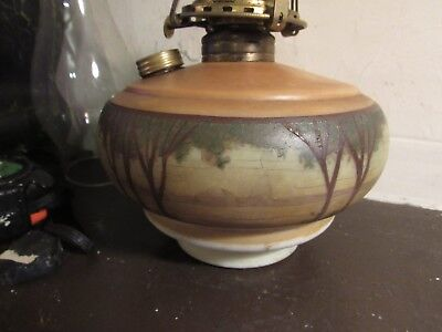 ANTIQUE ARTS AND CRAFTS PAINTED HANGING LAMP FONT Arts And Crafts Paintings