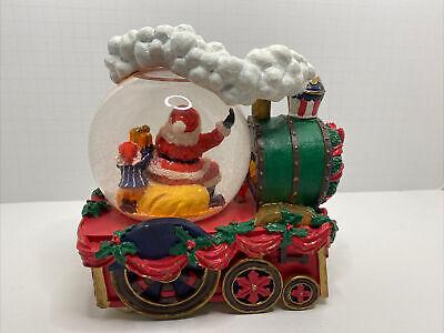 Train Snow Globe Dillard's Musical with Light Works! In Og Box Christmas Vintage