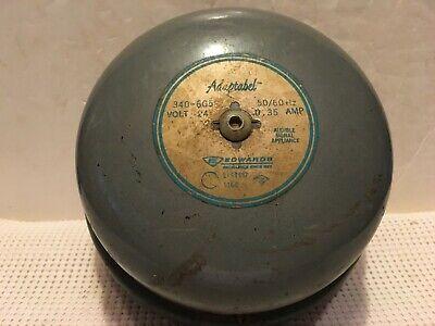 Vintage Edwards Adaptabel 340-6g5 6 Alarm Bell Fire School 24v .35a