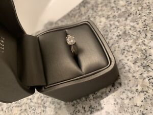 14K White Gold Band Round Cut Solitaire, 9K new!