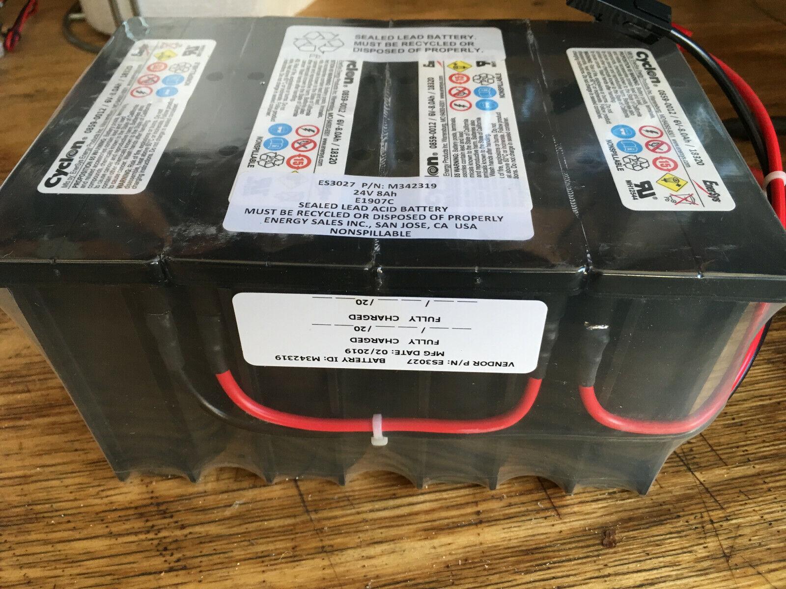 Enersys Cyclon 6V-8.0AH AGM Battery, configured as 24V. 8AH