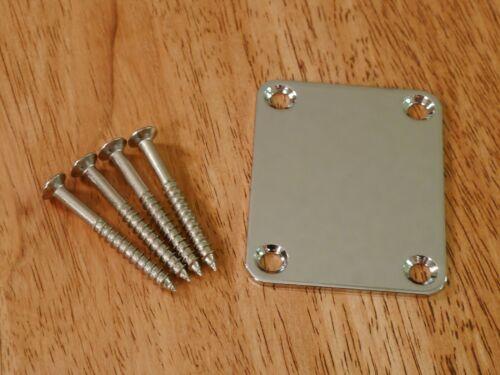 NECK PLATE CHROME 4 BOLT FOR ELECTRIC GUITAR