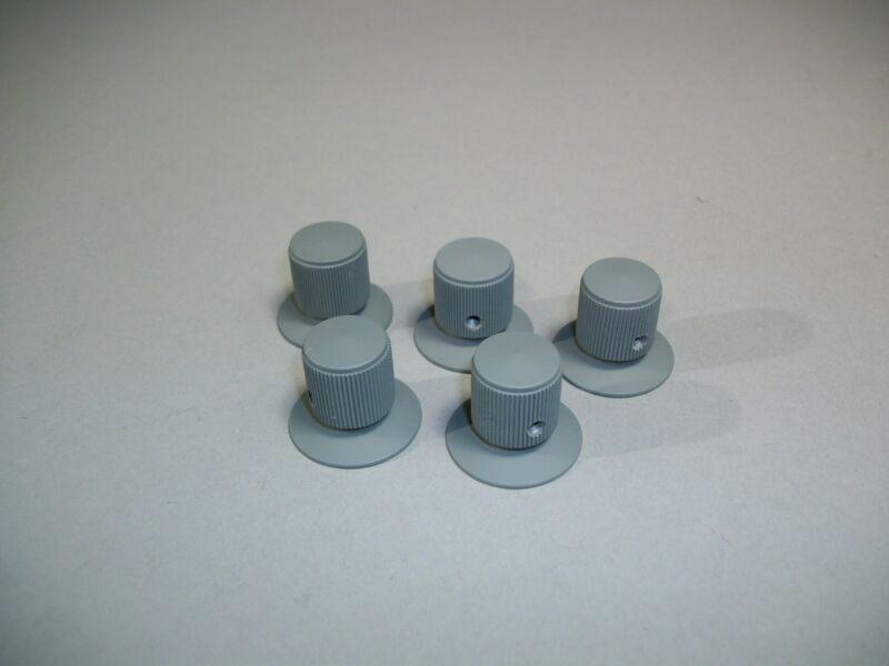 Lot of 5 Radio Oscillator Universal Grey Knobs With Setscrews 341558-4