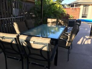 Outdoor 6 seater table with eight chairs Oxenford Gold Coast North Preview