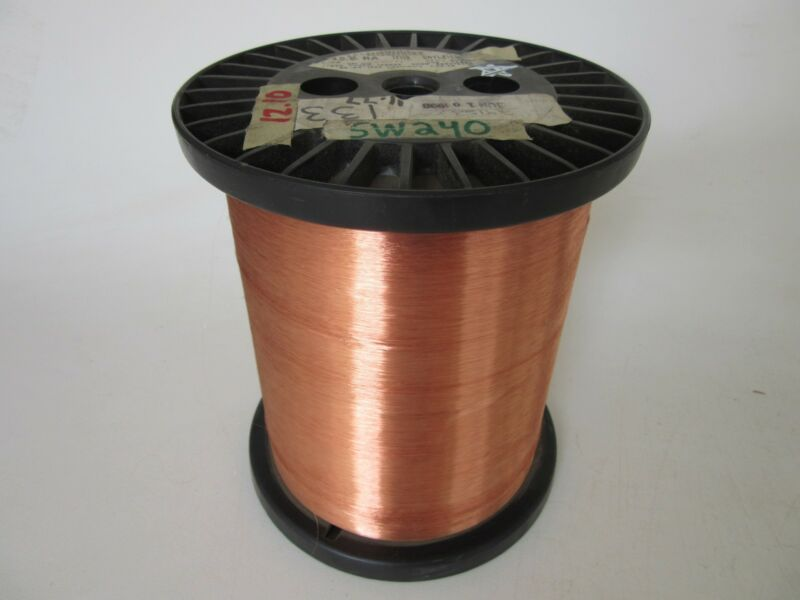 45 AWG   12.10 lbs.  Phelps SNYLZ155 Enamel Coated Copper Magnet Wire
