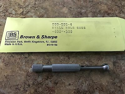 Brown And Sharpe 599-595-4  Small Hole Gage .400-.500