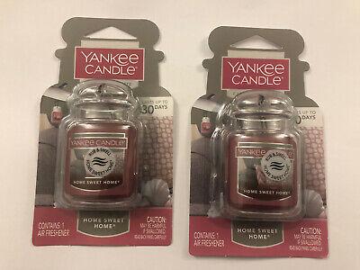 Lot of 2 Yankee Candle Home Sweet Home Car Jar Ultimate Car Air Freshener