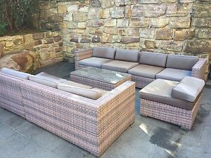 8 chair outdoor furniture set Engadine Sutherland Area Preview