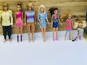 **SOLD** —— 7 BARBIES & 2 TOY BARBIE PUPPIES for only $15!!