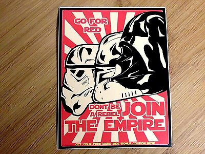 Join The Empire Sticker Decal Star Wars Propaganda Poster Dont Be A Rebel Red